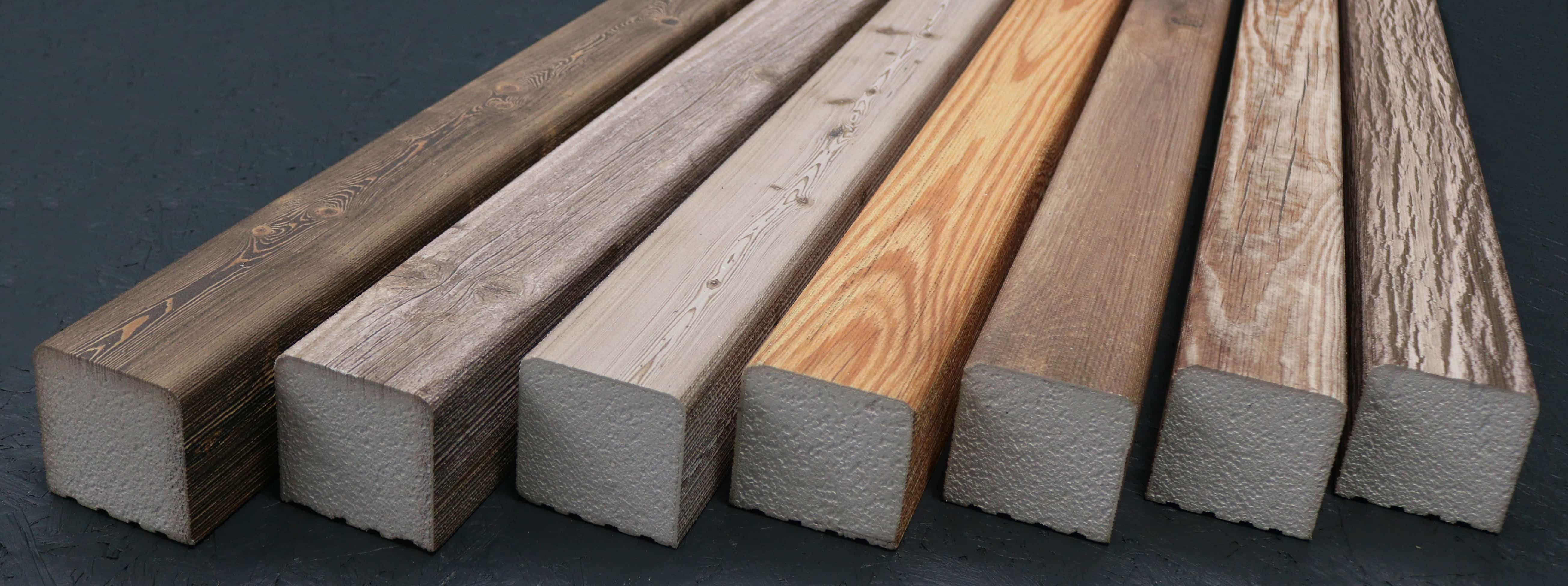 Kantholz/Holzpfosten Styropor London 9cm x 9cm