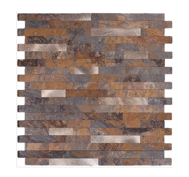 Mosaikfliese Rostiger Stein