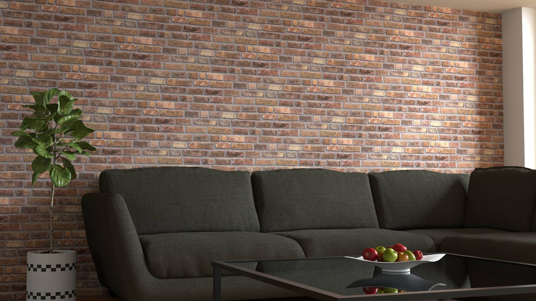 Wandverkleidung Backsteinoptik 651-012