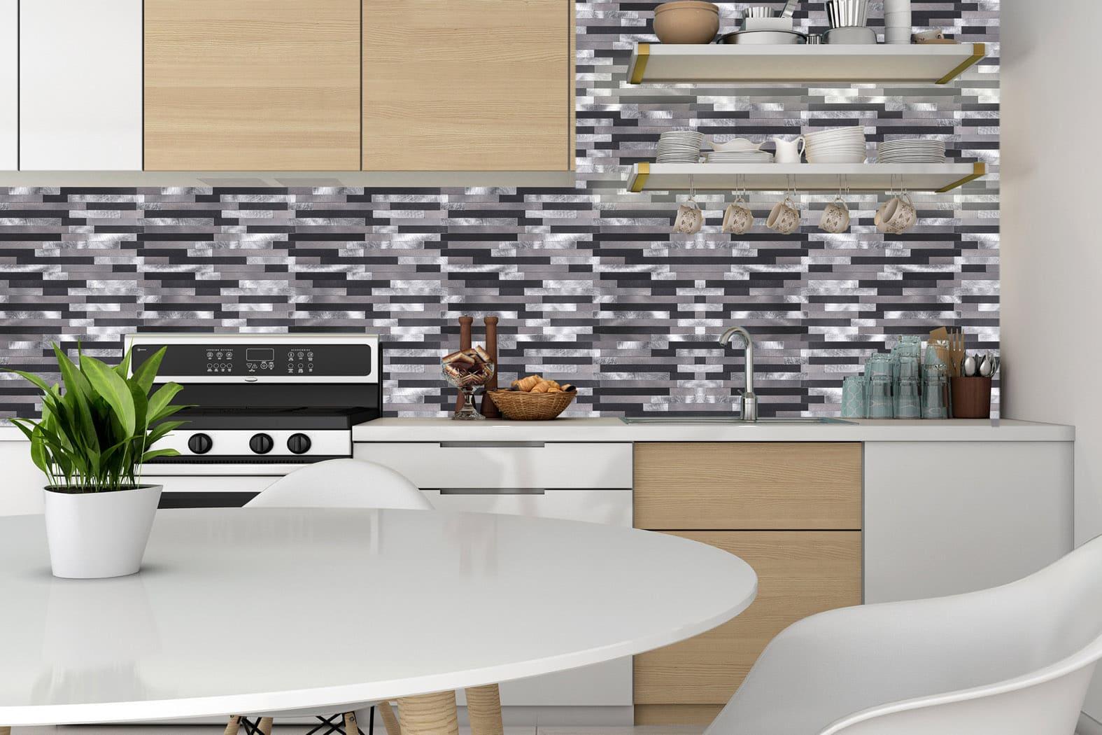 Mosaikfliese modernes Aluminium